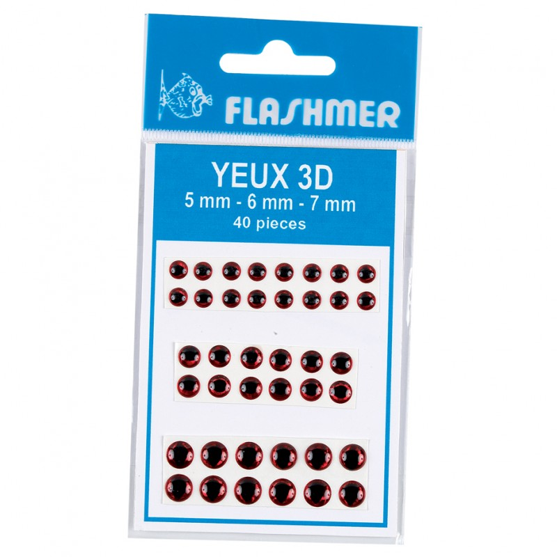 Yeux 3d flashmer for Faux poisson rouge